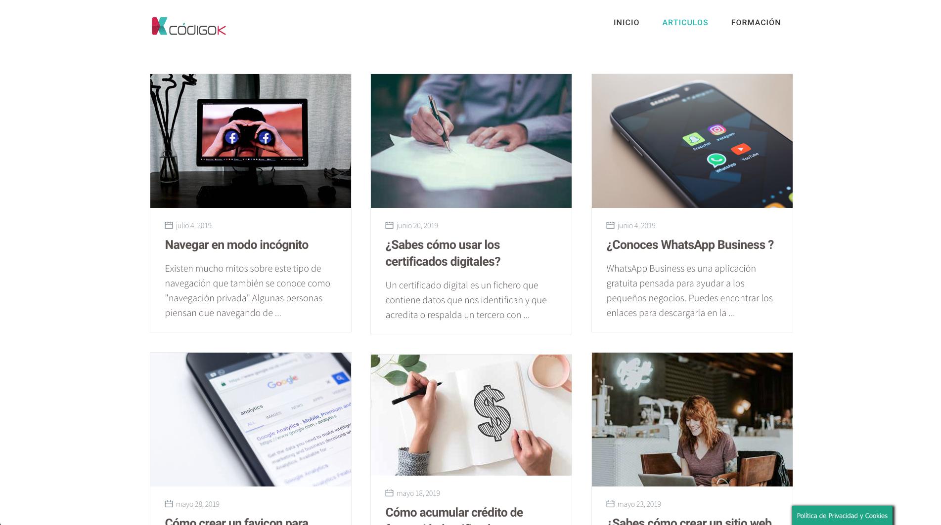 Blog codigoK articulos